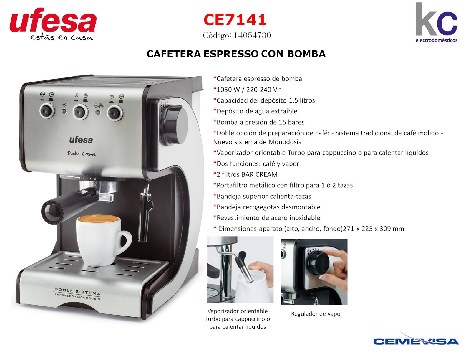 Ufesa ce7141 - Cafetera express amazon ...