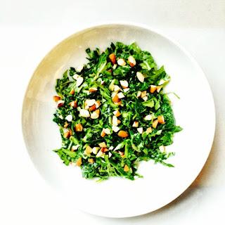 Shaved Mustard Green Salad.