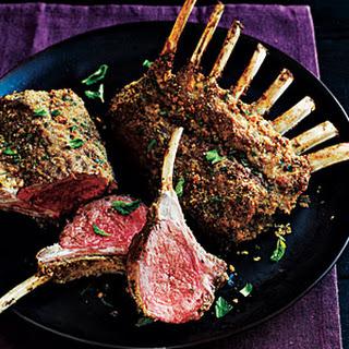 Herb-Crusted Rack of Lamb.
