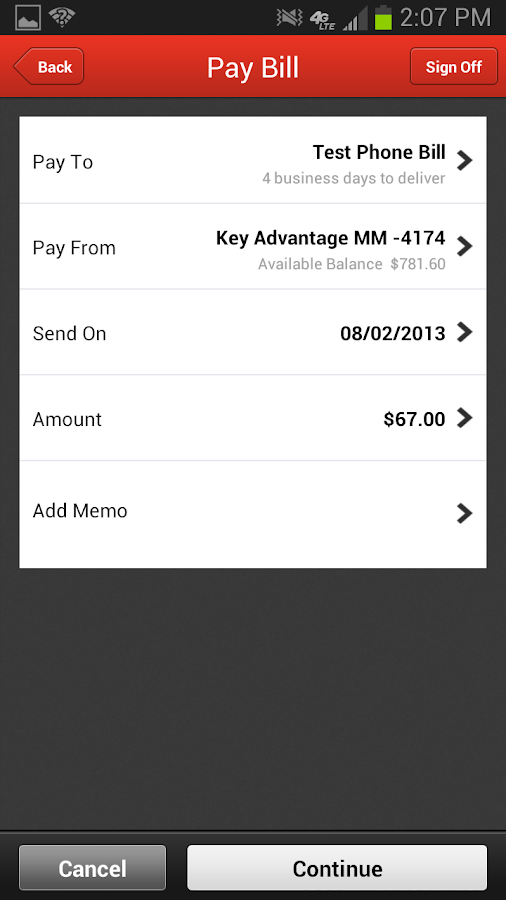 KeyBank Mobile - screenshot
