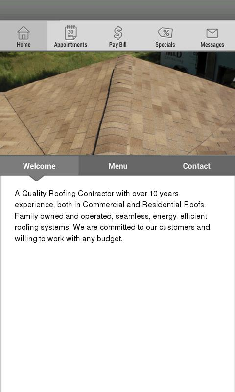 M & D Contracting - screenshot