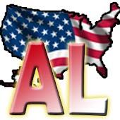 USA Alabama clock flag