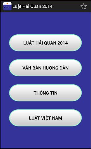Luat Hai quan Viet Nam 2014