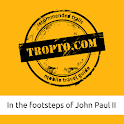 The footsteps of John Paul II logo