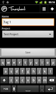 Timesheet NFC Add-On - screenshot thumbnail