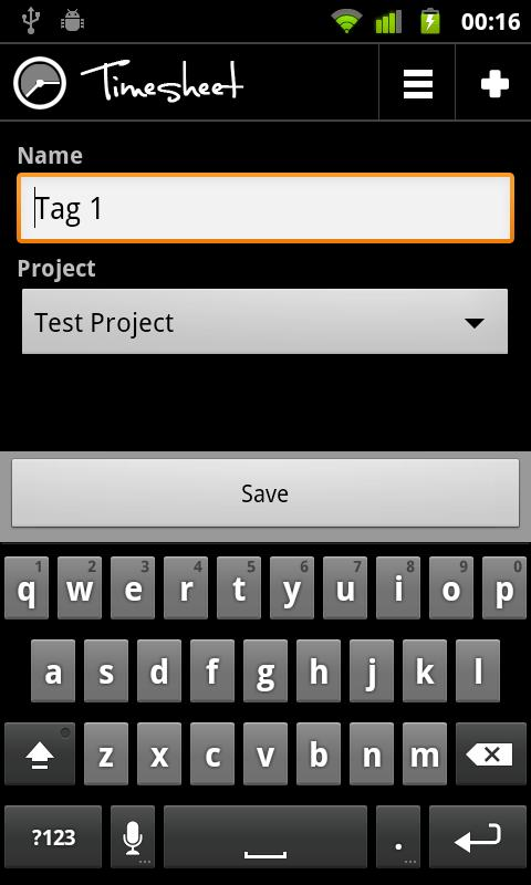 Timesheet NFC Add-On- screenshot