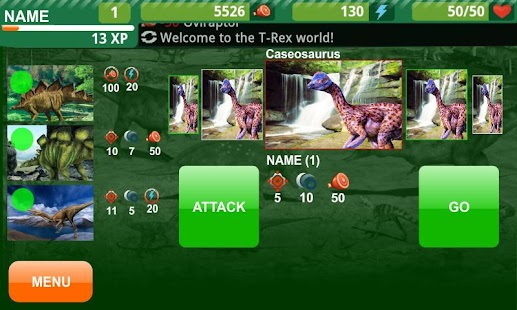 Dinosaur Fight - Online Game - screenshot thumbnail