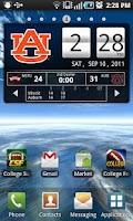 Screenshot of Auburn Tigers Live Clock