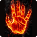 3D Cool FireHand LiveWallpaper