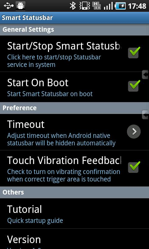Smart Statusbar- screenshot