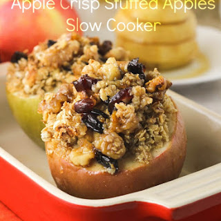 Apple Crisp Stuffed Apples ( crockpot)