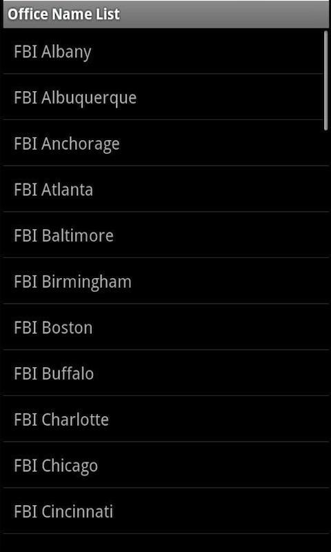 FBI Field Offices for Phones screenshot #3