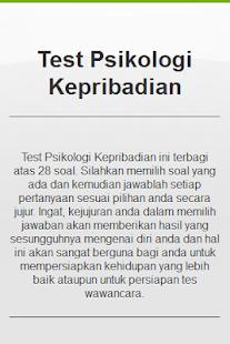 Tes Psikologi Kepribadian - screenshot thumbnail