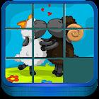 Kids Game Cartoon Puzzle Slide icon