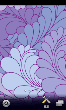淡い青と紫の花柄壁紙スマホ待ち受け壁紙 Android