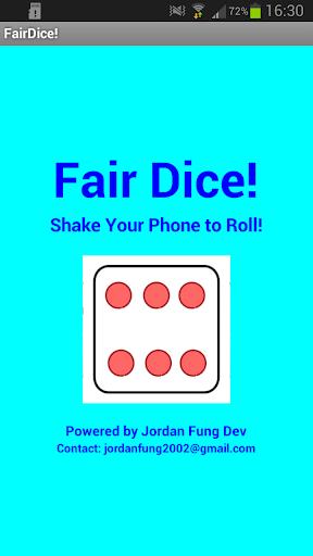 Fair Dice - Dice Roller