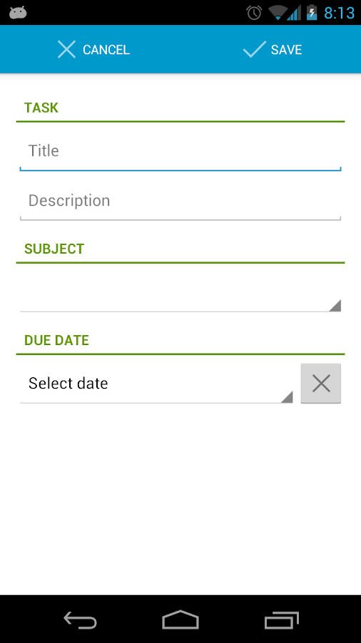 StudentBook- screenshot