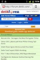 Screenshot of detikForum Launcher