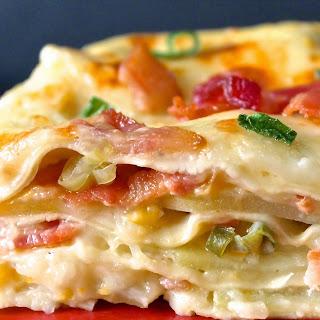 Creamed Corn and Bacon Lasagna