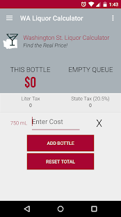WA State Liquor Calculator- screenshot thumbnail