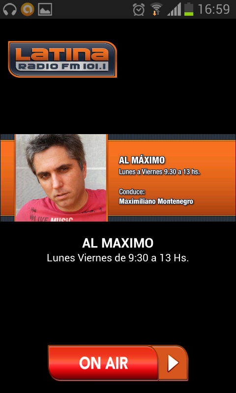 Radio Latina 101.1- screenshot
