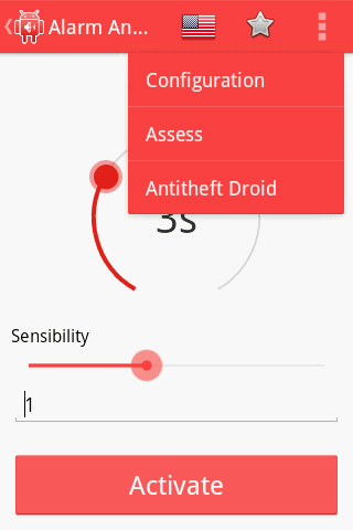 Anti Theft Droid Alarm- screenshot