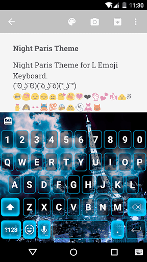 Night Paris Emoji Keyboard