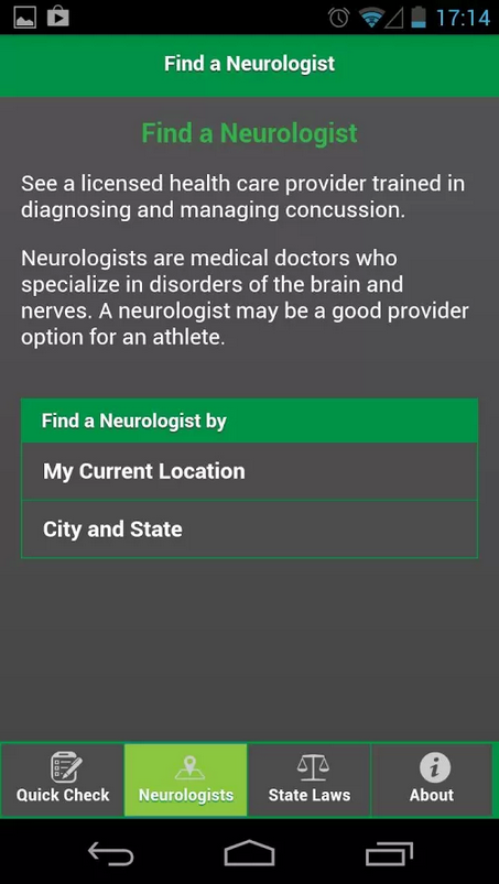 Concussion Quick Check - screenshot