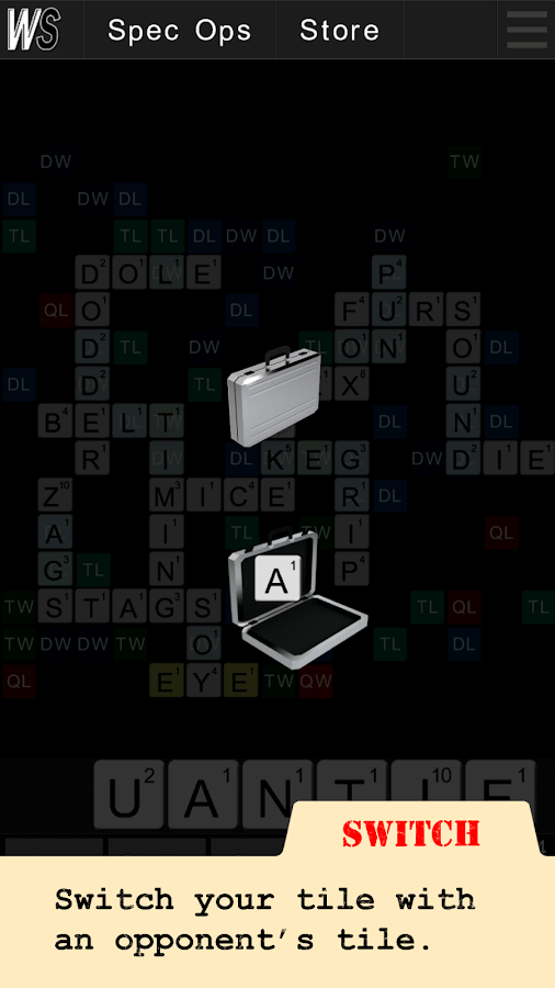 Wordspionage- screenshot