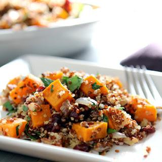 Quinoa, Sweet Potato and dried Cranberry Stuffing