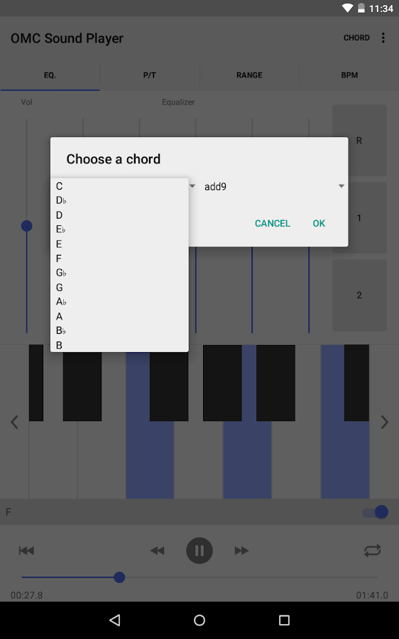OMC Sound Player Pro - screenshot