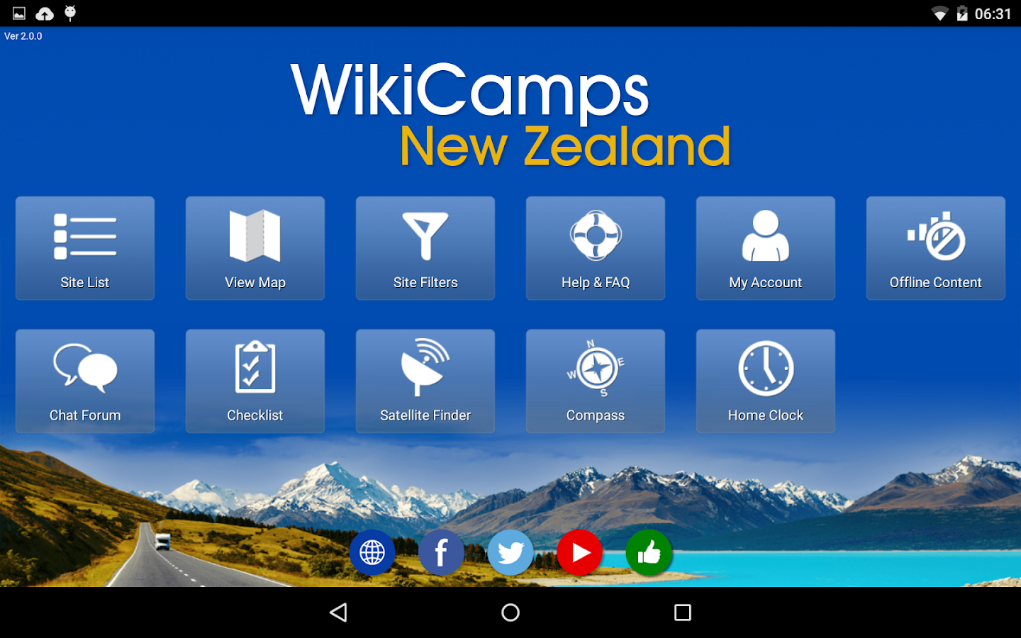 WikiCamps New Zealand- screenshot