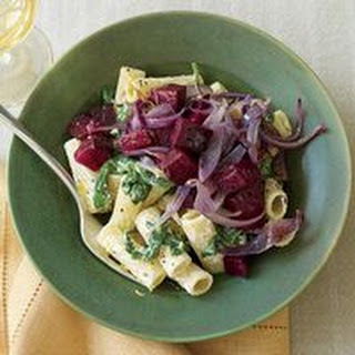 Rigatoni with Ricotta and Roasted Beets.