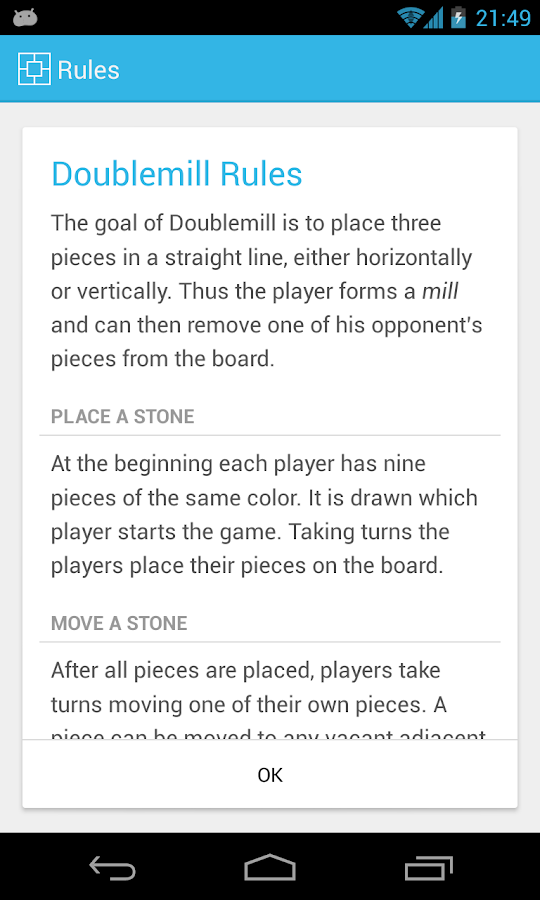 Doublemill 2 - Nine Men's Morris- screenshot