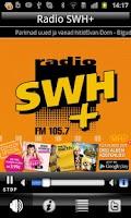 Screenshot of Radio SWH Plus 105.7 FM