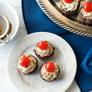 Gluten Free Flourless Mini Chocolate Cherry Cupcakes