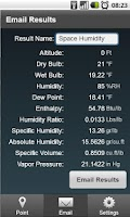 Screenshot of HVAC Psychrometrics Lite