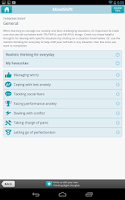 Screenshot of MindShift
