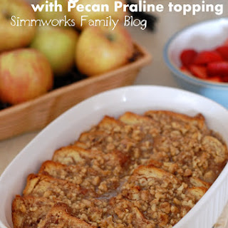 Overnight French Toast with Pecan Praline Topping {Breakfast Recipe}