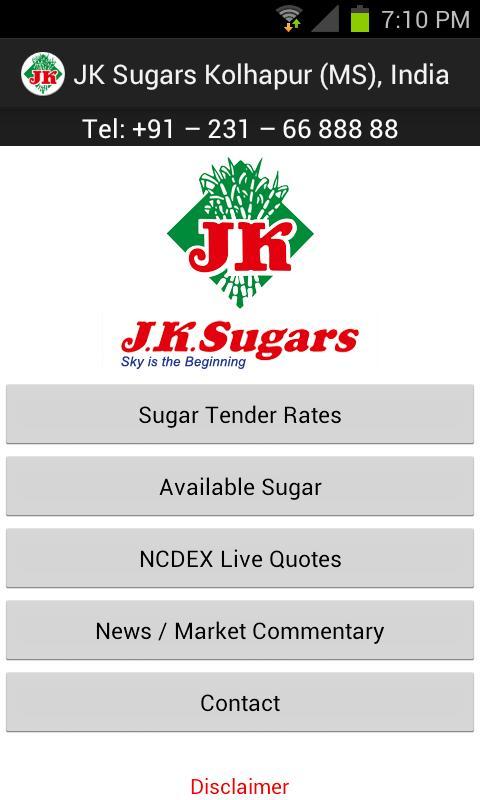 JK Sugars- screenshot