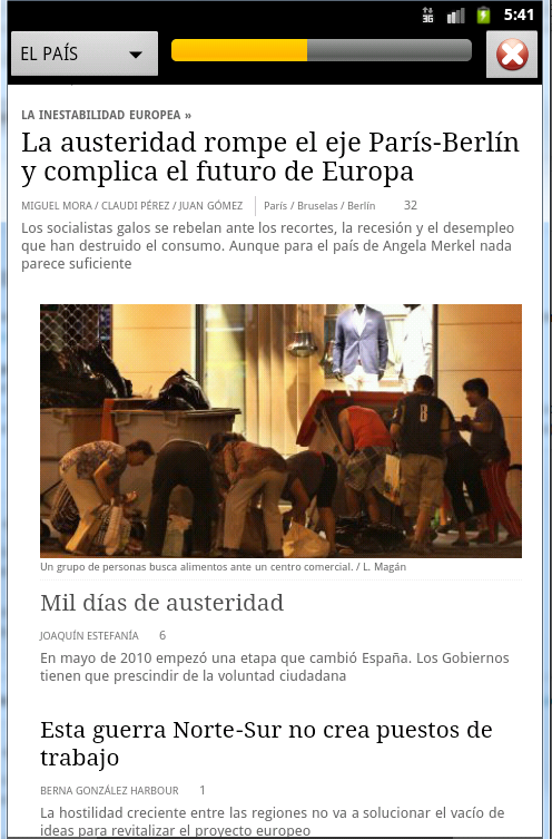 Spanish Newspaper Front Pages - screenshot