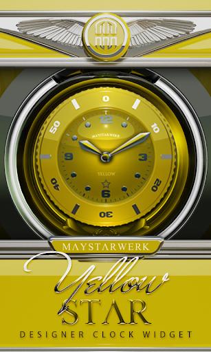 Clock Widget Yellow Star