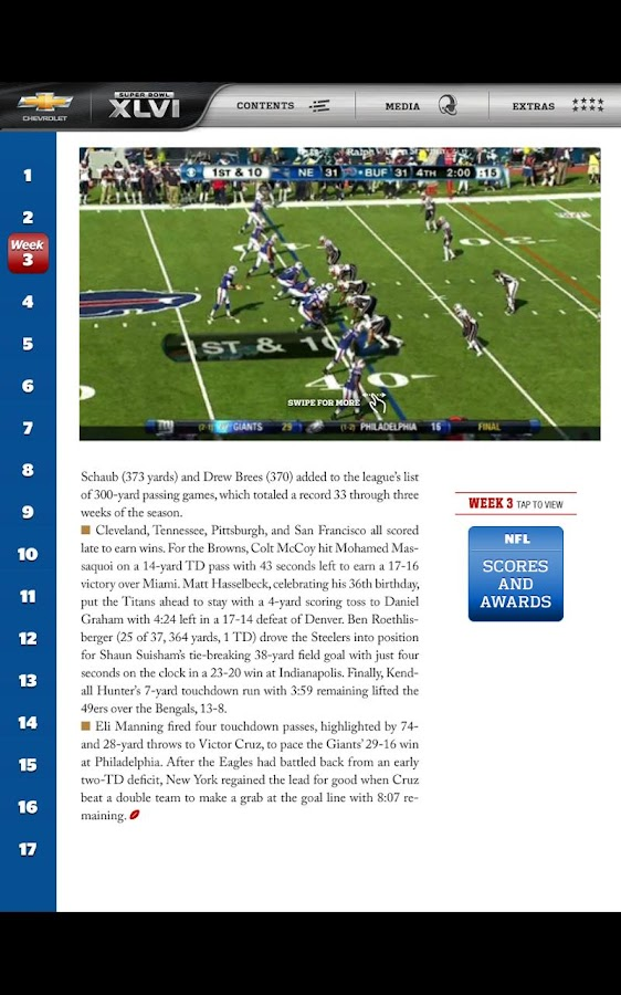 Super Bowl XLVI Game Program - screenshot