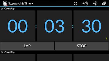 Screenshot of Stopwatch & Timer+