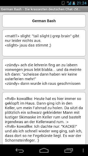 German Bash