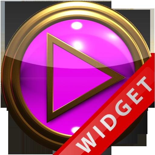 Poweramp Widget Pink Gold