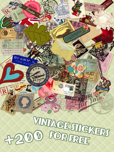 Vintage Deco Stickers Camera