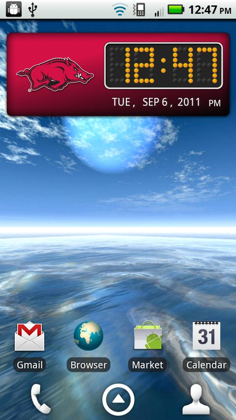 Arkansas Clock Widget- screenshot