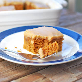 Pumpkin Bars with Old-Fashioned Caramel Frosting.