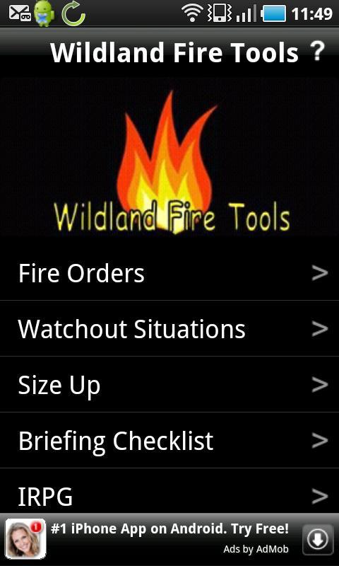 Wildland Fire Tools - screenshot